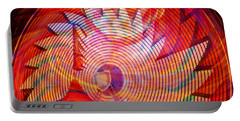Portable Battery Charger featuring the photograph Fiery Ferris Wheel by David Lee Thompson