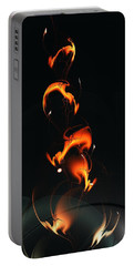 Portable Battery Charger featuring the digital art Fiery Flower by Anastasiya Malakhova