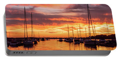 Fiery Lake Norman Sunset Portable Battery Charger
