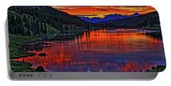 Portable Battery Charger featuring the photograph Fiery Lake by Scott Mahon