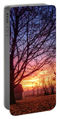 Portable Battery Charger featuring the photograph Fiery Morning Sunrise by Lars Lentz