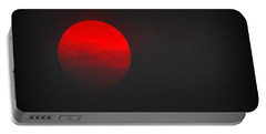 Portable Battery Charger featuring the photograph Fiery Sun by AJ Schibig