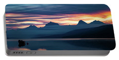 Portable Battery Charger featuring the photograph Fiery Sunrise At Mcdonald Lake, Gnp by Lon Dittrick