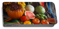 Portable Battery Charger featuring the painting Fiesta Fall Harvest by Marilyn Smith