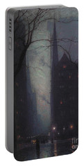Fifth Avenue At Twilight Portable Battery Charger