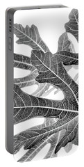 Fig Leaf Abstract Portable Battery Charger