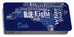 Fight Fight Blue Devils Portable Battery Charger
