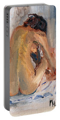 Figure Study 2 Portable Battery Charger by Michael Helfen