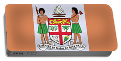 Portable Battery Charger featuring the drawing Fiji Coat Of Arms by Movie Poster Prints