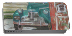 Portable Battery Charger featuring the painting Fill 'er Up by Arlene Crafton