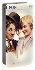 Film Fun Classic Comedy Magazine Featuring Charlie Chaplin And Girl 1916 Portable Battery Charger