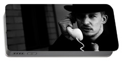 Film Noir Detective On Telephone Portable Battery Charger