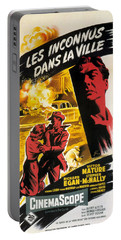 Film Noir Poster   Violent Saturday Portable Battery Charger