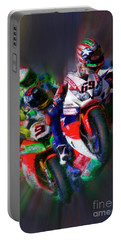 Fim Superbike Nicky Hayden Leads The Way Portable Battery Charger
