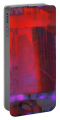 Portable Battery Charger featuring the digital art Final Scene - Before The Bell by Wendy J St Christopher
