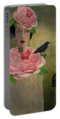Portable Battery Charger featuring the digital art Finding Her Way by Lisa Noneman