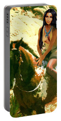Fine Art Digital Portrait Cher Half Breed B Detail3 Portable Battery Charger