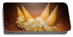 Fine Art Ice Cream Cone Spill Portable Battery Charger