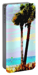 Fine Art Palm Trees Gulf Coast Florida Original Digital Painting Portable Battery Charger