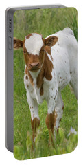 Fine Looking Longhorn Calf Portable Battery Charger