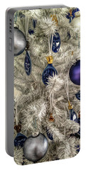 Portable Battery Charger featuring the photograph Fine Wine Cafe Christmas Tree Ornaments by Aimee L Maher Photography and Art Visit ALMGallerydotcom