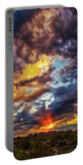 Portable Battery Charger featuring the photograph Finger Painted Sunset by Rick Furmanek