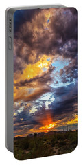 Finger Painted Sunset Portable Battery Charger
