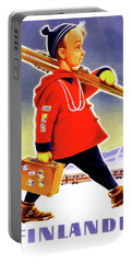 Finland, Boy Ready For A Ski Portable Battery Charger