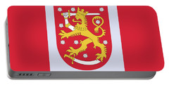 Portable Battery Charger featuring the drawing Finland Coat Of Arms by Movie Poster Prints