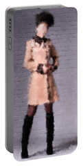 Portable Battery Charger featuring the digital art Fiona by Nancy Levan