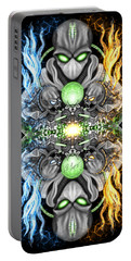 Fire And Ice Alien Time Machine Portable Battery Charger
