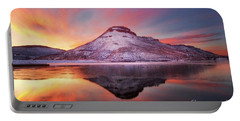 Fire And Ice - Flatiron Reservoir, Loveland Colorado Portable Battery Charger by Ronda Kimbrow