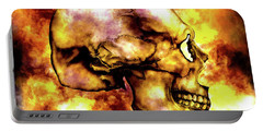 Fire And Skull Portable Battery Charger