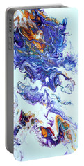 Portable Battery Charger featuring the painting Fire Ball by Joanne Smoley