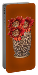 Fire Brick Flora Vase Portable Battery Charger
