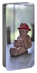 Fire Chief Molded Stone Portable Battery Charger
