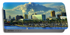 Portable Battery Charger featuring the photograph Fire Cloud Over Long Beach by Mariola Bitner