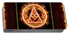 Portable Battery Charger featuring the digital art Fire Emblem Sigil by Shawn Dall