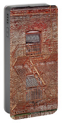 Portable Battery Charger featuring the photograph Fire Escape by Marie Leslie