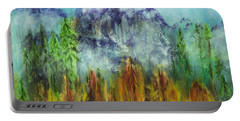 Fire In Glacier Park Portable Battery Charger