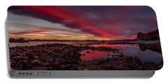 Fire In The Sky At Cave Rock Portable Battery Charger