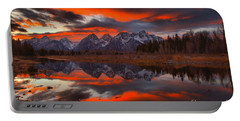 Fire In The Sky At Schwabacher Landing Portable Battery Charger