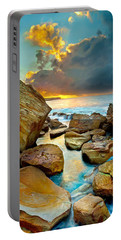Fire In The Sky Portable Battery Charger by Az Jackson