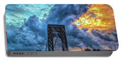 Portable Battery Charger featuring the photograph Fire In The Sky by Theodore Jones