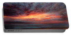 Fire In The Sky Portable Battery Charger by Valerie Travers