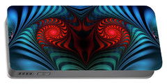 Portable Battery Charger featuring the digital art Fire Inside by Jutta Maria Pusl