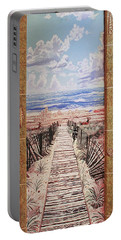 Fire Island Walkway To The Beach Portable Battery Charger