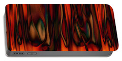 Portable Battery Charger featuring the digital art Fire by Kiki Art