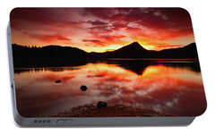 Portable Battery Charger featuring the photograph Fire Of Fall by John De Bord