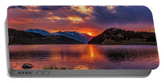 Fire On The Water Reflections Portable Battery Charger